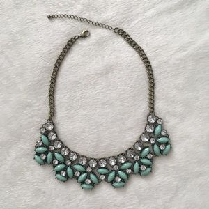 Turquoise and Brass Statement Necklace